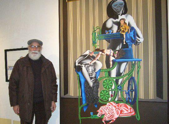 Osvaldo Forno con opere esposta