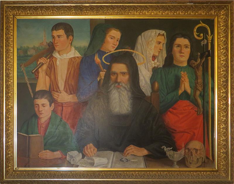 • Il dipinto ottocentesco che campeggia nella Sala Consiliare